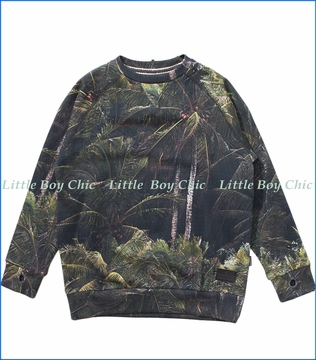 Munster, Jungle Palms Sweatshirt in Black