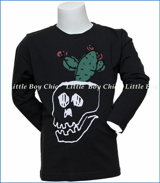 Munster, LS Pot Plant T-Shirt in Black