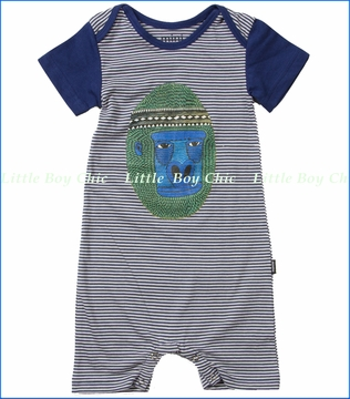 Munster, Ooga Romper in Navy Stripe (c)