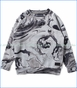Munster, Ourside Fashion Sweatshirt in Grey Marble Print