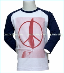 Munster, Peace Feather Raglan T-Shirt in Blue