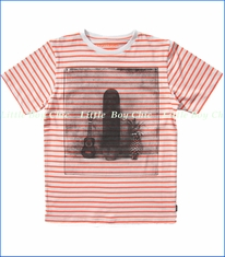 Munster, Strum It Tee in Orange Stripe (c)