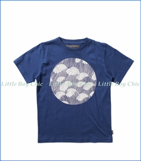 Munster, Wave Peaks T-Shirt in Navy