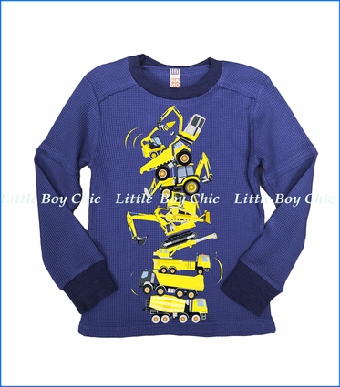 Nano, L/S Trucks Graphic T-Shirt in Navy