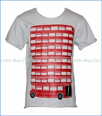 Nano, London Bus T-Shirt in Grey
