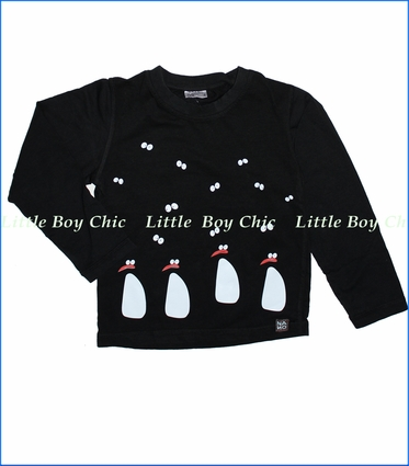 Nano, Penguins Tee in Black
