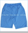 Nano, Pinstripe Knit Shorts in Electric Blue (c)