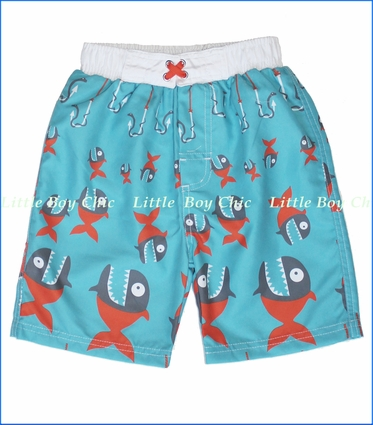 Nano, Piranha Swim Short in Blue