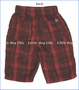 Nano, Plaid Short in Ketchup (c)