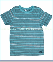 Nano, Tie Dyed Stripe Tee in Turquoise (c)