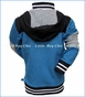 Noruk, Color Block Hooded Cardigan in Blue