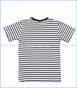 Noruk, #Doglife Striped T-Shirt in Black