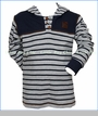 Noruk, Stripe Hoodie with Eye Holes in Blue