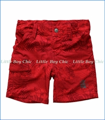 Noruk, Tropical Foliage Boardshorts in Tropical Red