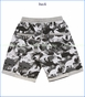Paper Wiings, Dinoflage Organic French Terry Shorts in Multi Grey (c)