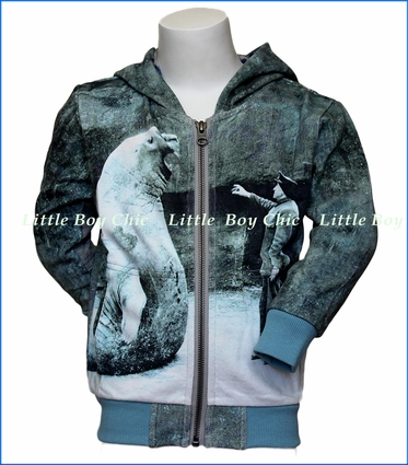 Paper Wings, Elephant Seal Organic Hoodie in Blue