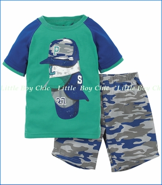 Petit Lem, Baseball Fan Pajama or Playwear Set (c)