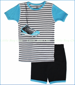 Petit Lem, Baseball Shoes Pajama Set (c)