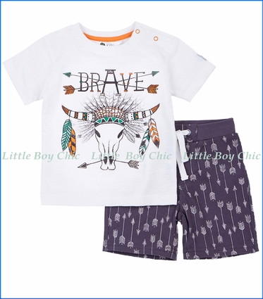 Petit Lem, Brave 2Pc Tee & Short Set