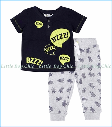 Petit Lem, Bugs 2Pc Tee & Jogger Set in Grey