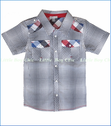 Petit Lem, London Plaid Buttoned Shirt