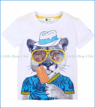 Petit Lem, Popsicle T-Shirt in White