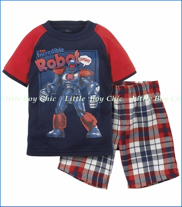 Petit Lem, Robot Pajama or Playwear Set
