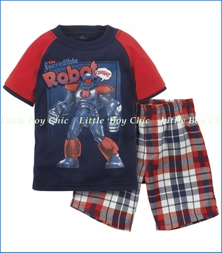 Petit Lem, Robot Pajama or Playwear Set (c)