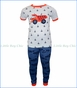Petit Lem, S/S Construction Trucks PJ Set in Blue