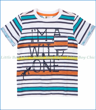 Petit Lem, Wild One Pocket T-Shirt in Multicoloured
