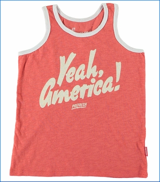 Prefresh, America Slub Tank in Red