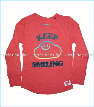 Prefresh, Keep Smiling Slub T-Shirt in Red