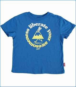 Prefresh, Liberate Awesomeness T-Shirt  in Blue