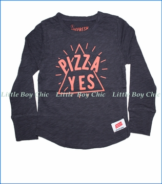 Prefresh, Pizza Yes Jersey T-Shirt in Graphite