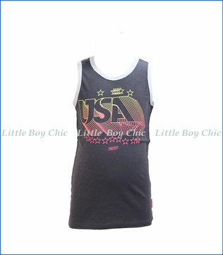 Prefresh, USA Ringer Tank Top in Black