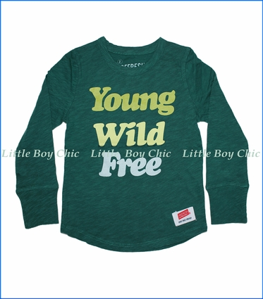 Prefresh, Young Wild Free Slub T-Shirt in Dark Green