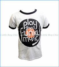 Rowdy Sprout, Play That Funky Music Ringer Tee in White