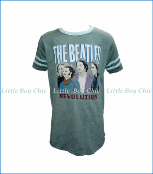 Rowdy Sprout, The Beatles Varsity T-Shirt in Green