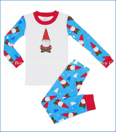 Sara's Prints, Christmas Gnome Applique Pajama
