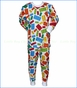 Sara's Prints, Locking Block Loose Fit Pajama in Multicolored