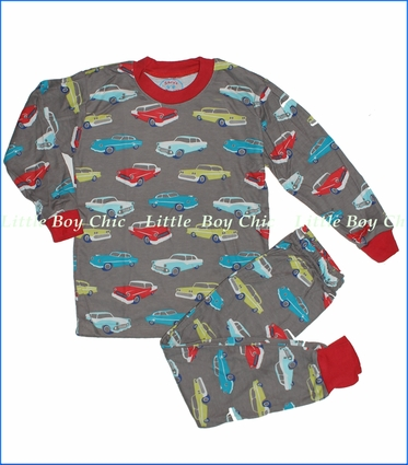 Sara's Prints, Retro Cars Loose Fit Pajama in Brown