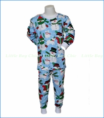 Sara's Prints, Snow Pals Pajamas in Blue