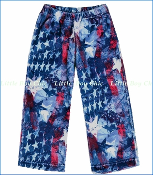 Sara's Prints, Stars and Stripes Fleece Lounge Pants
