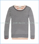 Scotch & Soda, 2-in-1 Pullover with Inner Tee in Blue and Orange