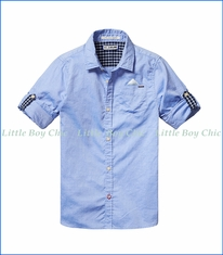 Scotch & Soda, Button Down Shirt in Blue