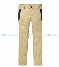 Scotch & Soda, Slim Fit Chinos with Zip Pockets in Beige