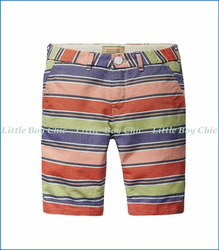 Scotch & Soda, Striped Cabana Shorts w/ Belt in Multicoloured