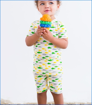 Skylar Luna, Fish Short Pajama Set (c)