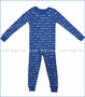 Skylar Luna, L/S Roadsters Organic Pajamas in Blue