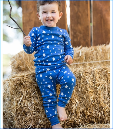 Skylar Luna, Royal Stars Organic Long Pajamas